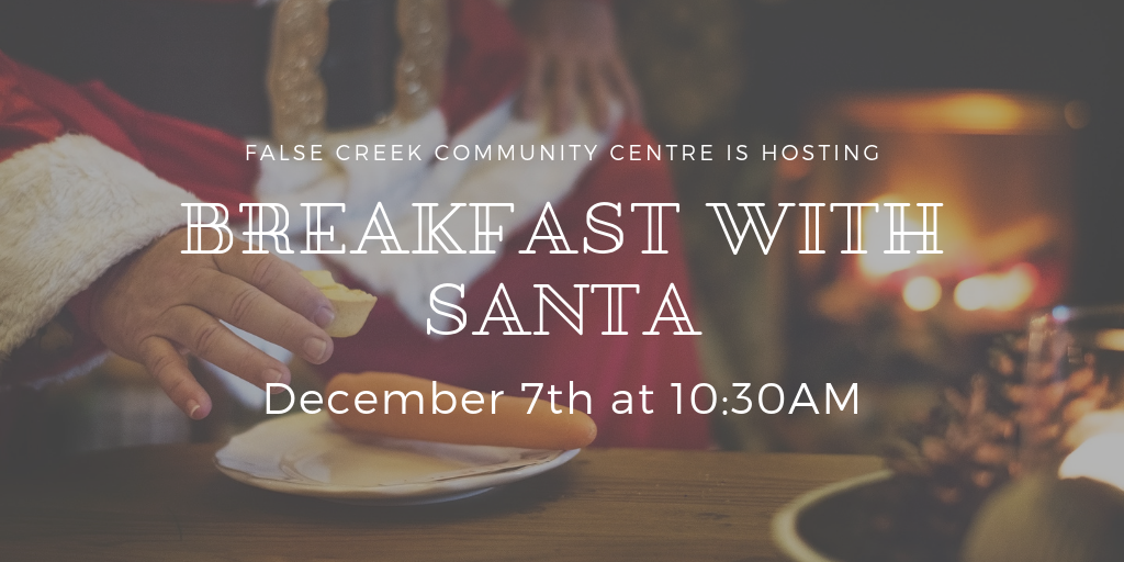 Breakfast with Santa (2+ yrs) Join us for our annual festive buffet style pancake breakfast with themed arts and crafts, family entertainment, photo booth, and a visit from Santa! Space is limited and registration must be done in advance, in-person or by phone. Children must be accompanied by an adult. Each adult & child must be registered individually. Sa Dec 7 from 10:30 AM-12:00 PM $6/person