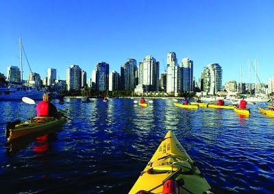 Kayaking In False Creek Vancouver BC