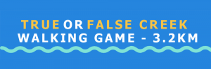 True or False Walking Game - 3.2km What is it? An interactive game with qr codes from false creek community centre to Science world. Participants learn about False creek's past, present and future. True or false creek focuses on promoting a beginner understanding of sustainability. It teaches people about how false creek came about, its importance and history to first nations people, as well as sustainability issues. It is intended to be a start to future conversations about sustainability, an important aspect To our city's future. Who can play? People of all ages! You just need a phone or other electronic device (and data/a wifi connection). How to play Head down to false creek and start the game at either false creek community centre or science world. Follow the blue signs posted along the creek (you will have to search in shop windows, on fences, near the marina etc). There are 5 questions in total: heart, star, diamond, square and Circle. Be a sustainability detective; try to find Them all! When? The game goes live july 17th and runs until the end of october. Join us at false creek community centre on launch day from 10am-12pm; the first 100 people will get a special prize: freezies! Stickers are also available.