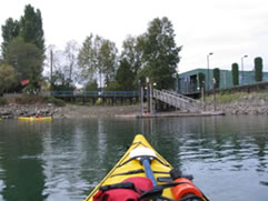 centre from kayak