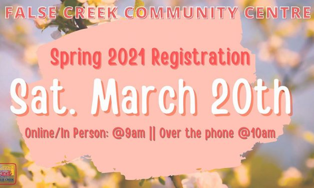 Spring Registration starts Saturday March 20